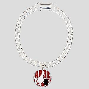 BARREL RACER [maroon] Charm Bracelet, One Charm